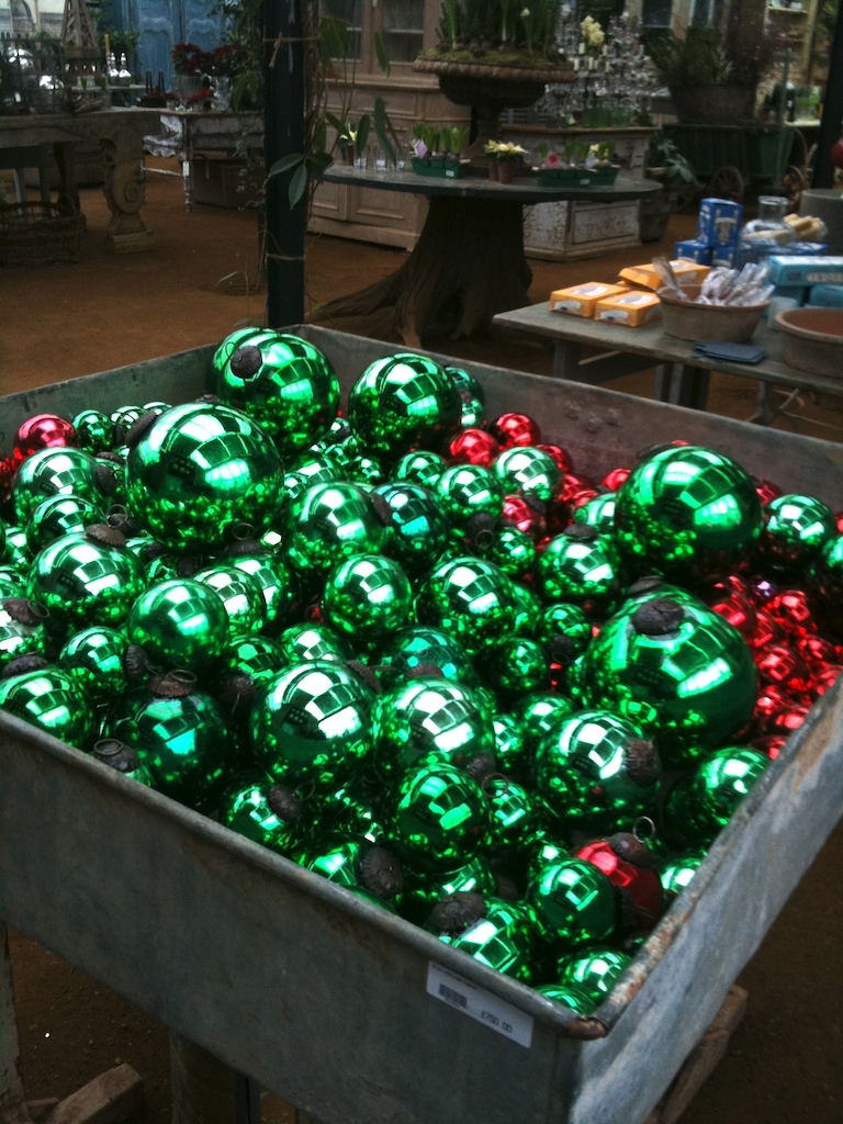 Christmas Baubles Are Oversized At Petersham Nurseries Smudgetikka