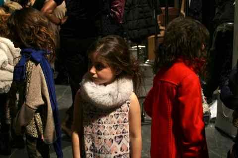 Pitti Bimbo 70 Roberto Cavalli models backstage for children s fashion  winter 2010 64e575536