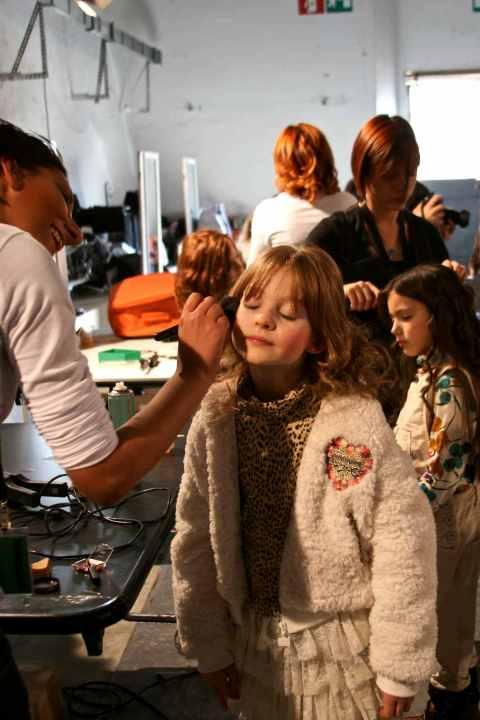 Pitti Bimbo 70 backstage at Roberto Cavalli childrenswear for winter 2010 f163303ba