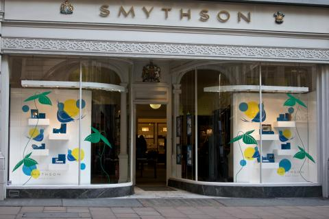 Window display by Smythson for spring 2010