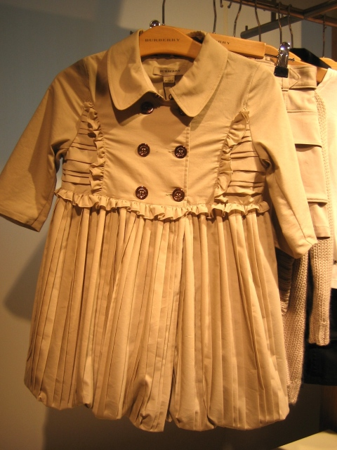 Burberry childrenswear trench style dress for autumn 2010