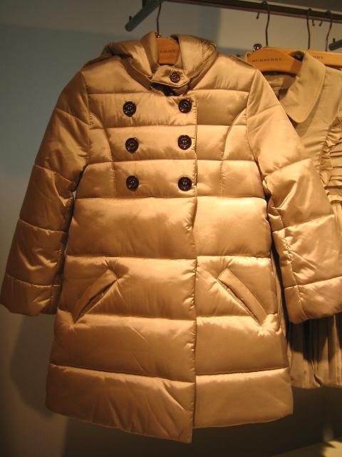 Burberry kidswear padded jacket for autumn 2010