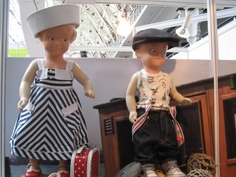 Kidswear by Swedish brand Rockafella with ebay found retro vintage kids mannekins