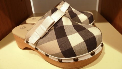 Children's footwear by Burberry for summer 2011