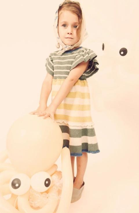 Kicokids striped dress modern version of the Breton classics for childrens fashion 2011