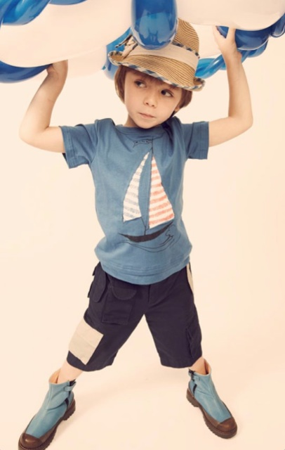KikoKids  yacht T-shirt for spring 2011 kids fashion