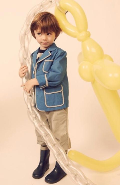 KikoKids children's fashion for summer 2011 trimmed smart blazer