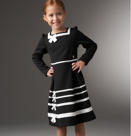 Dior girls dress with bow features