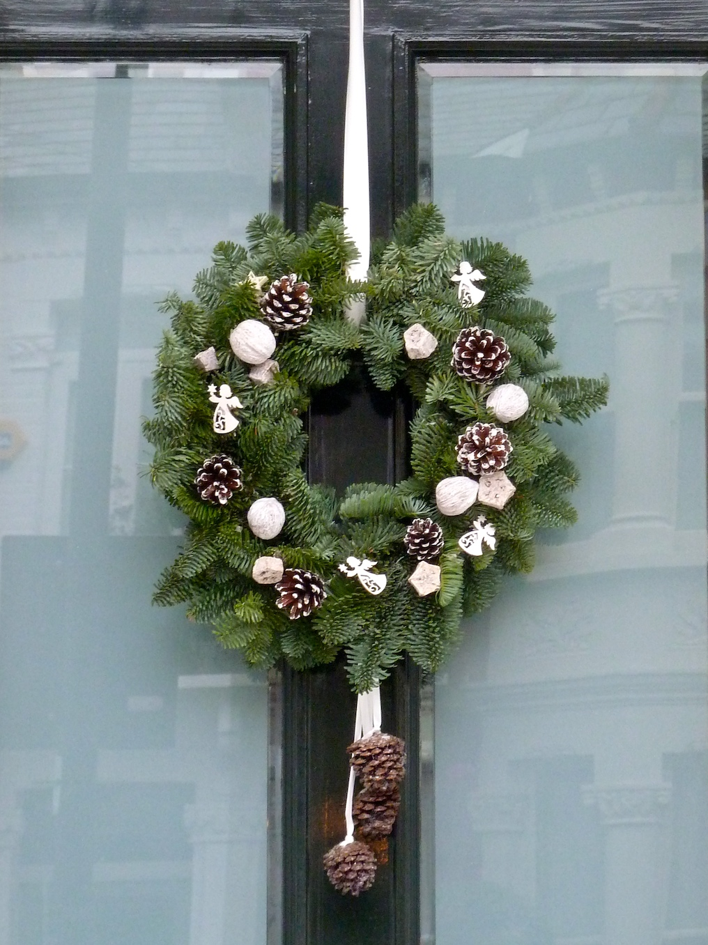 Christmas Wreaths from the streets of London Xmas 2010