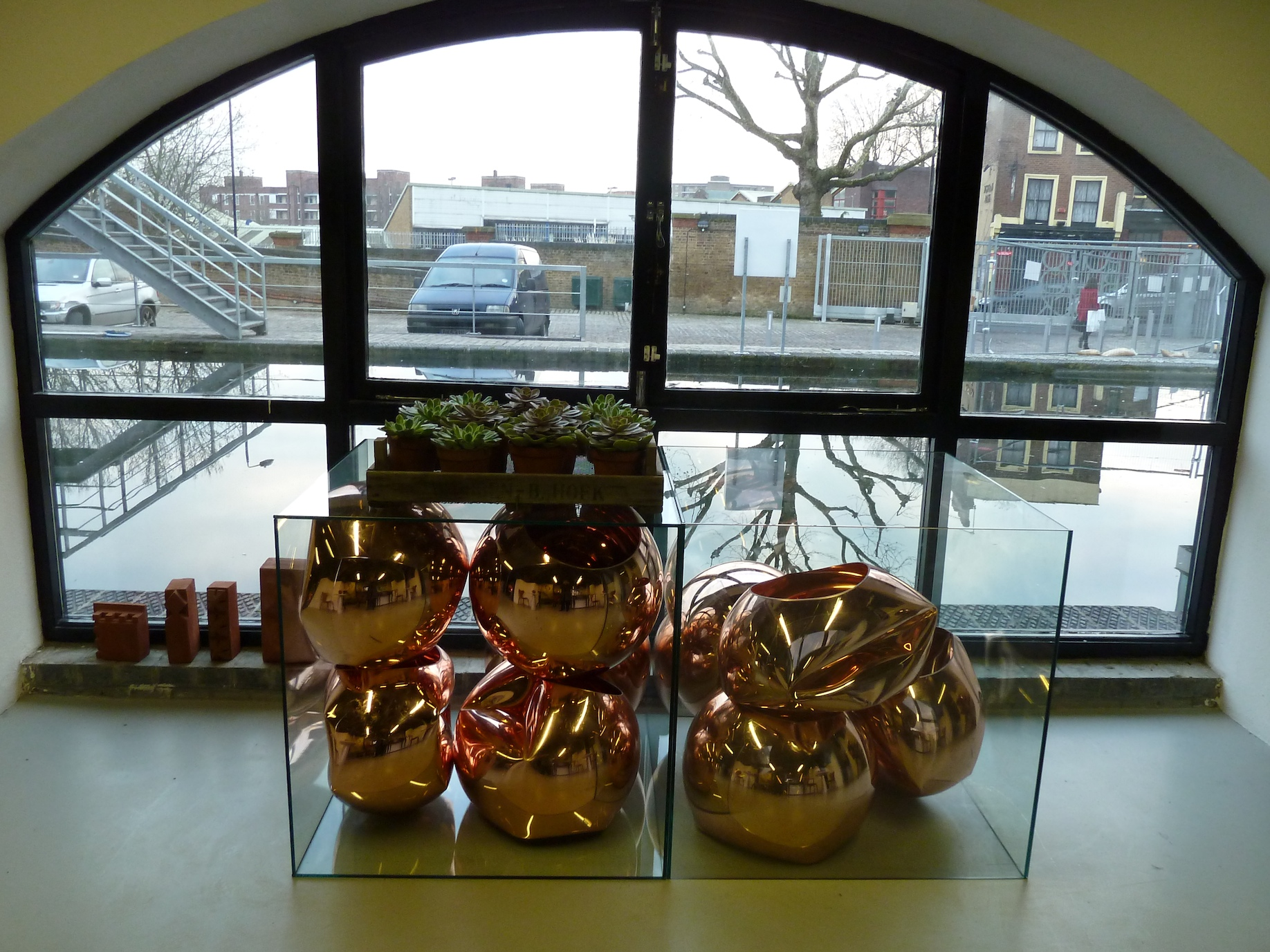 Lower level entry to the Tom Dixon shop at Portobello Dock