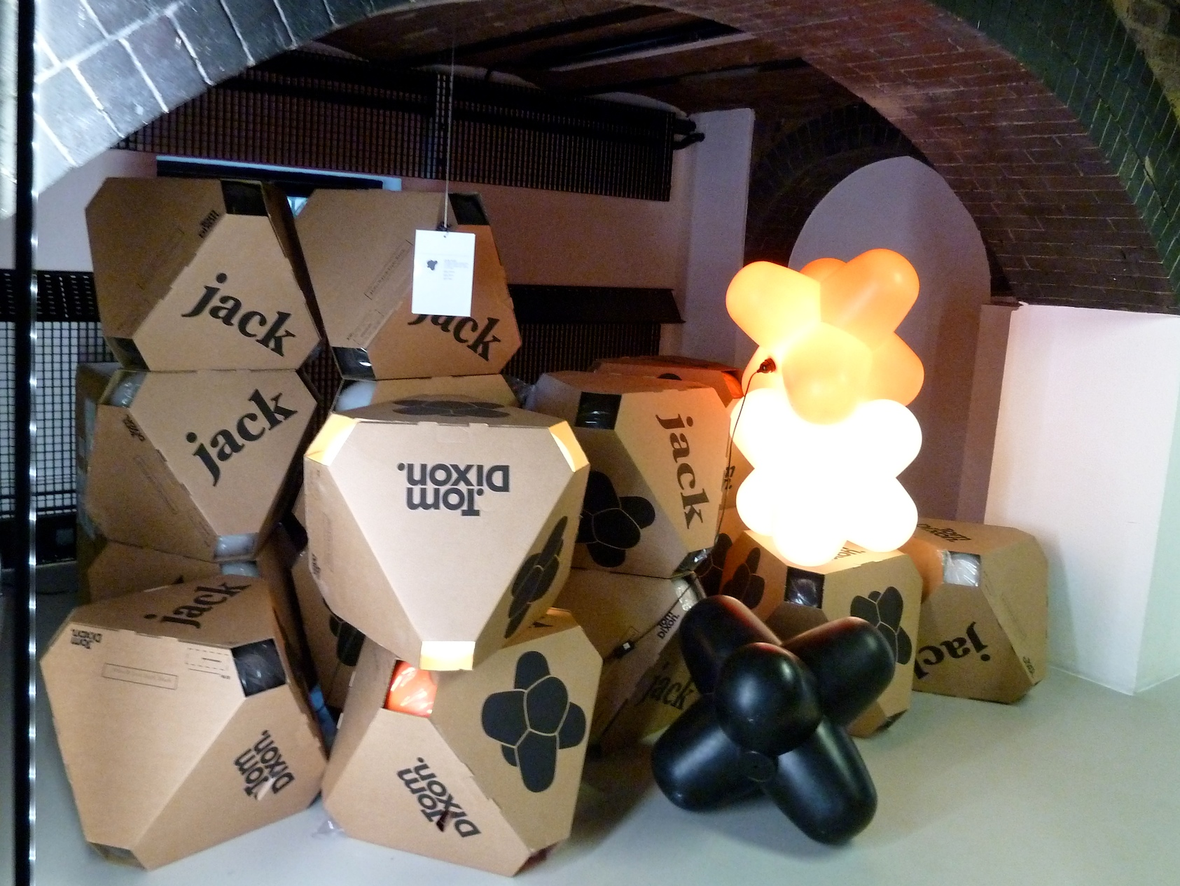 A pile of the classic Jack lights at Tom Dixon shop