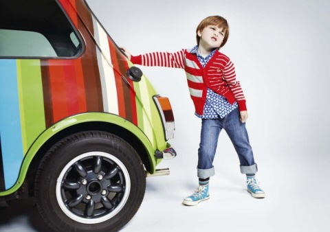 Paul Smith kids collection, bold spring knits for boyswear in 2011