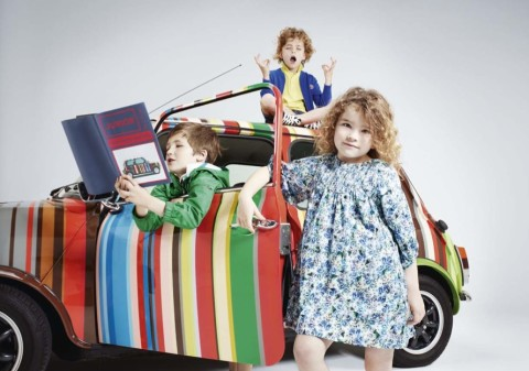 Paul Smith spring kids collection, florals for girlswear to mix and match for 2011