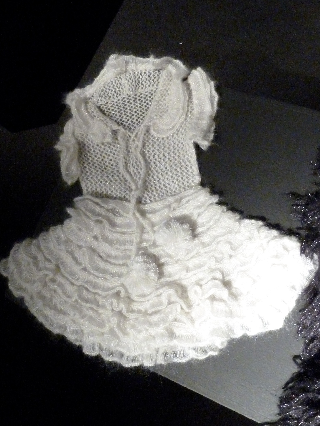 Cream wool baby dress for winter 2011, a new style from Bonnie Young
