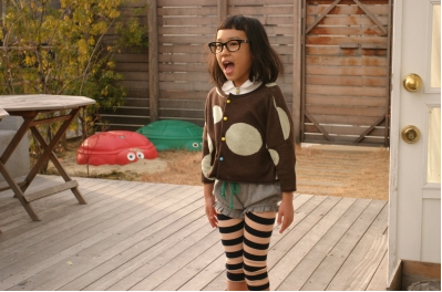 Franky Grow winter 2011 big spots and stripes for kids fashion