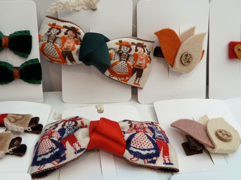 Tyrol tapestry girls hair bows from Iwanit from New York at Bubble London