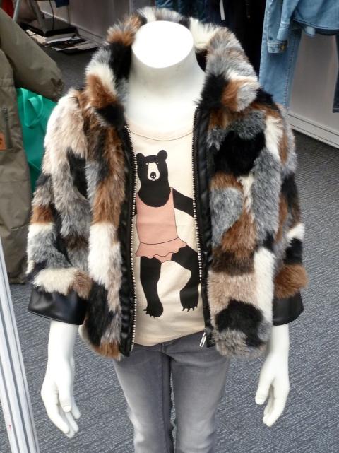 Quirky fun fur and T-shirt graphic from Mini Rodini children's fashion winter 2011
