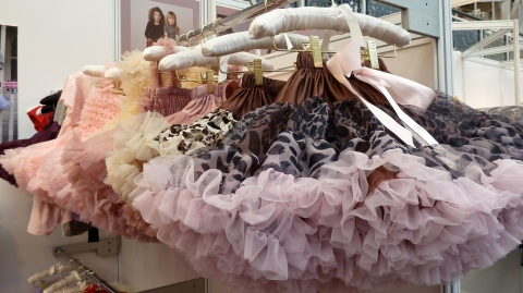 Muted colorways and leopard layers for the ever popular children's tutu's at Angels Face