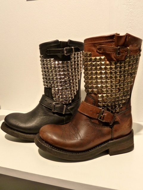 Cool studded kids boots by Ash Kids with buckled and chain decorated versions too at Bubble London for winter 2011