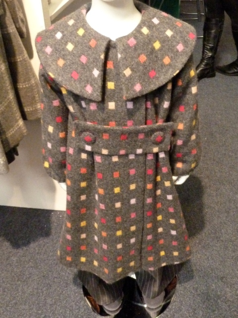 Wide collared coat by K for Keeps, a newcomer to kids fashion at Bubble for winter 2011
