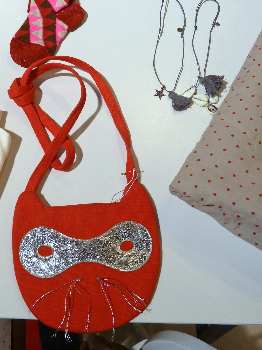 Great children's mask bag from April Showers by Polder for winter 2011