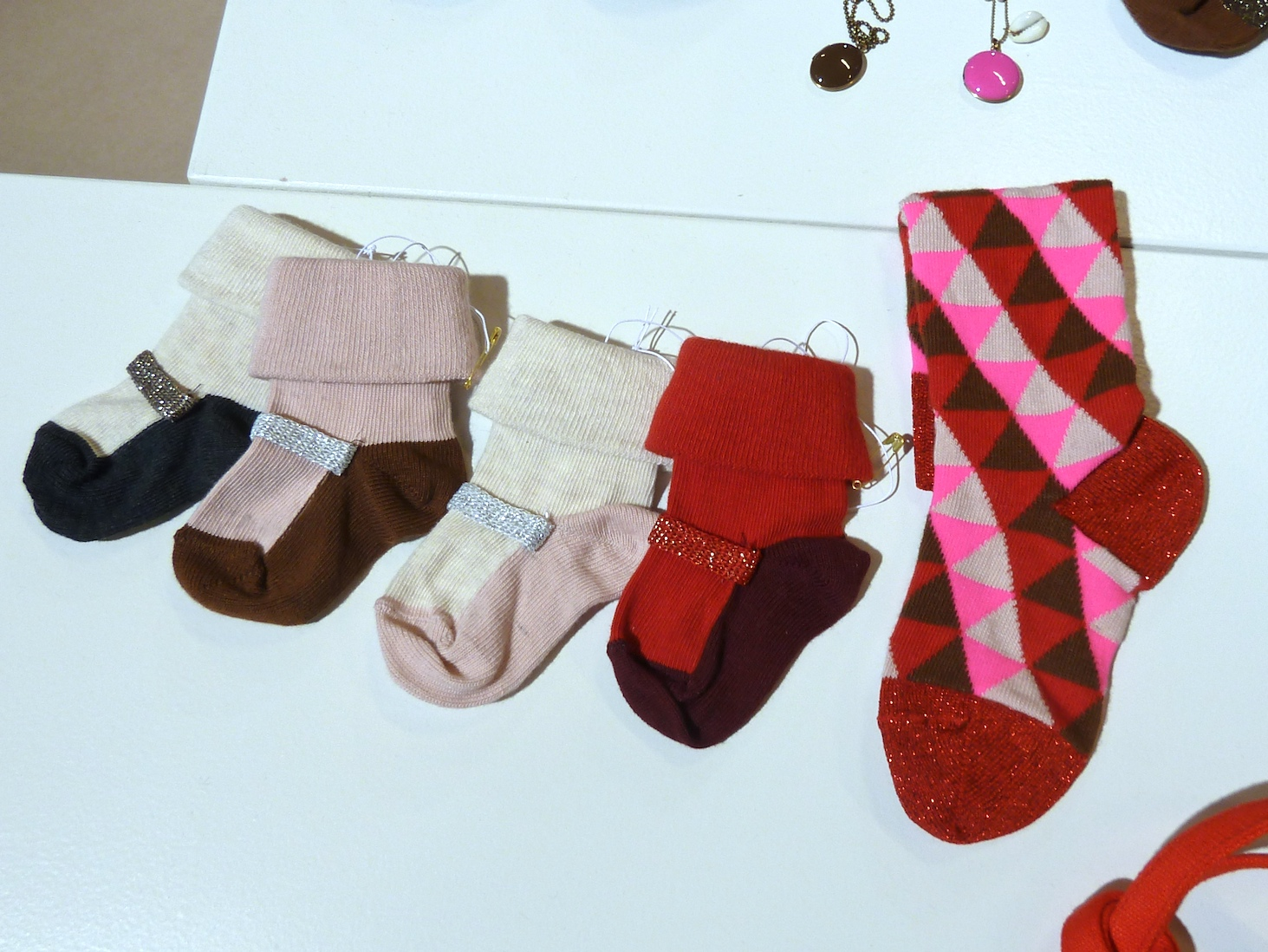 Just the cutest baby socks from April Showers by Polder for winter 2011