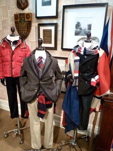 Contrast trimmed blazer jacket and Navy pea coat for winter 2011 boyswear at Hackett