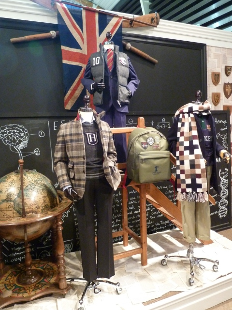 Great new tweed blazer and giant chequered scarf from Hackett kids for winter 2011
