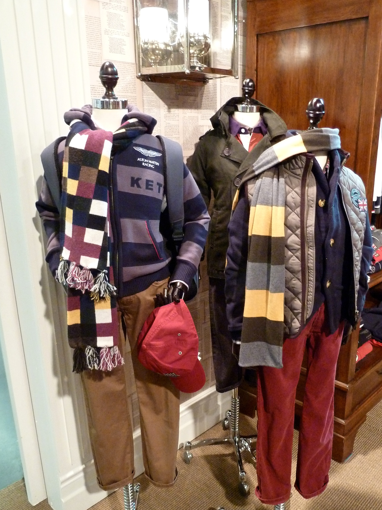College styling for children's fashion at Hackett winter 2011