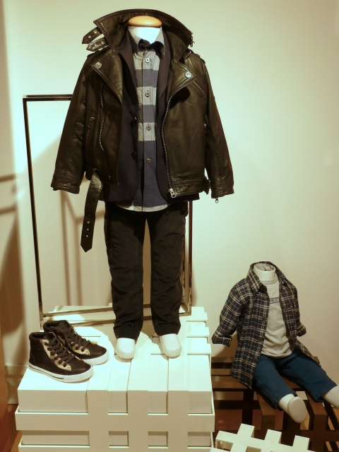 Boys get pretty cool leather too at Burberry winter 2011 children's fashion previews