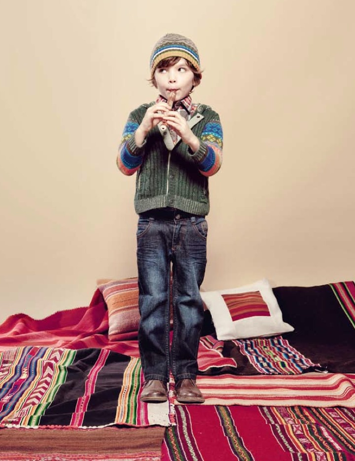 68b52ce9805 Kenzo Kids boyswear with pattern and striped knits for winter 2011