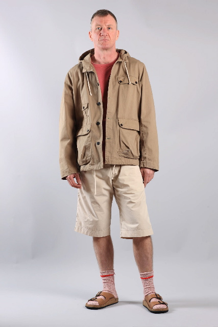 Casual shorts and proofed jacket by Universal Works for summer 2011