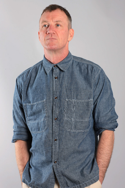 Great stitched detailing on chambray denim shirt by Universal Works for summer 2011 menswear