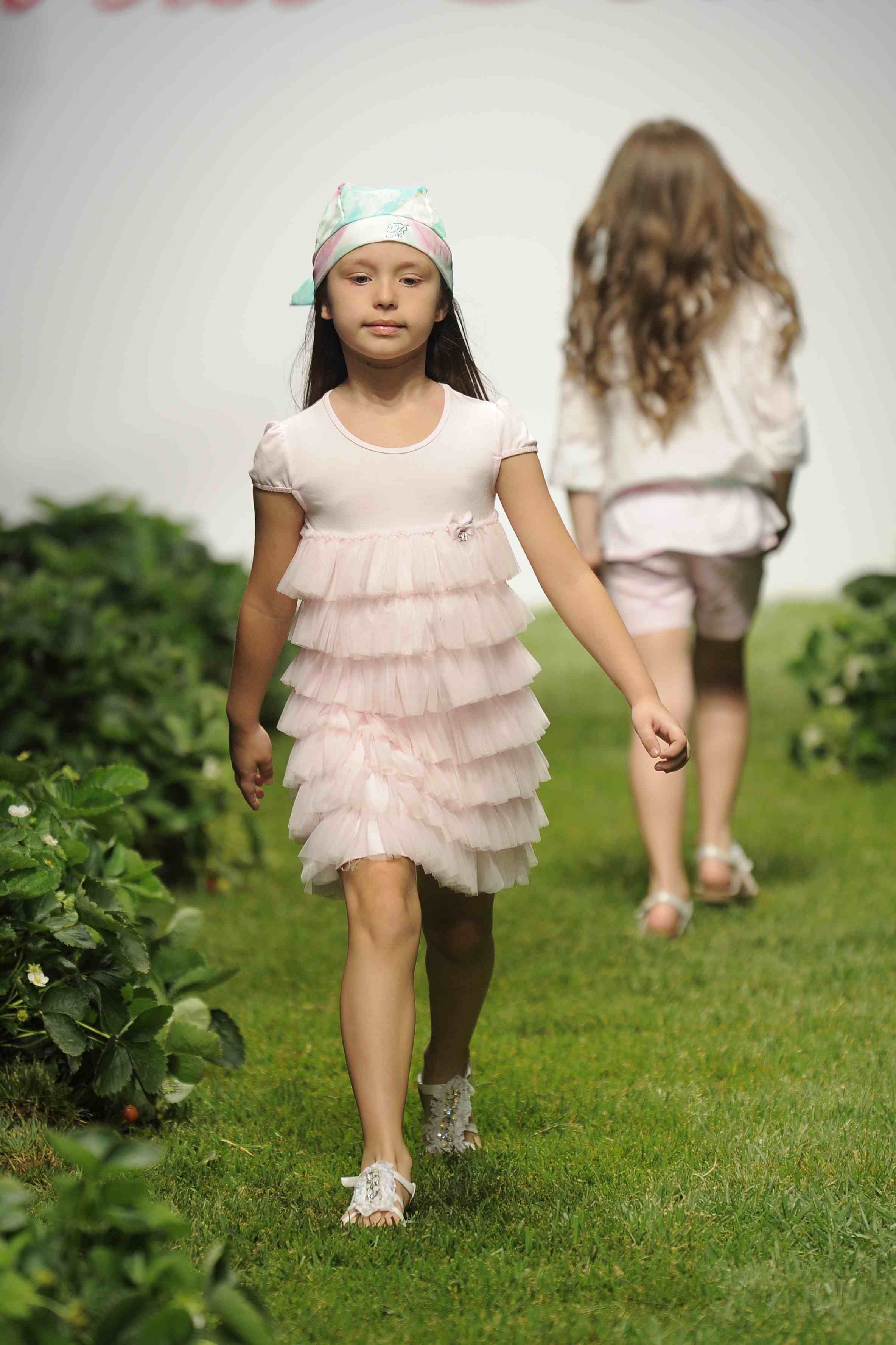 Miss Blumarine pretty pastel net ruffles for girls fashion summer 2012