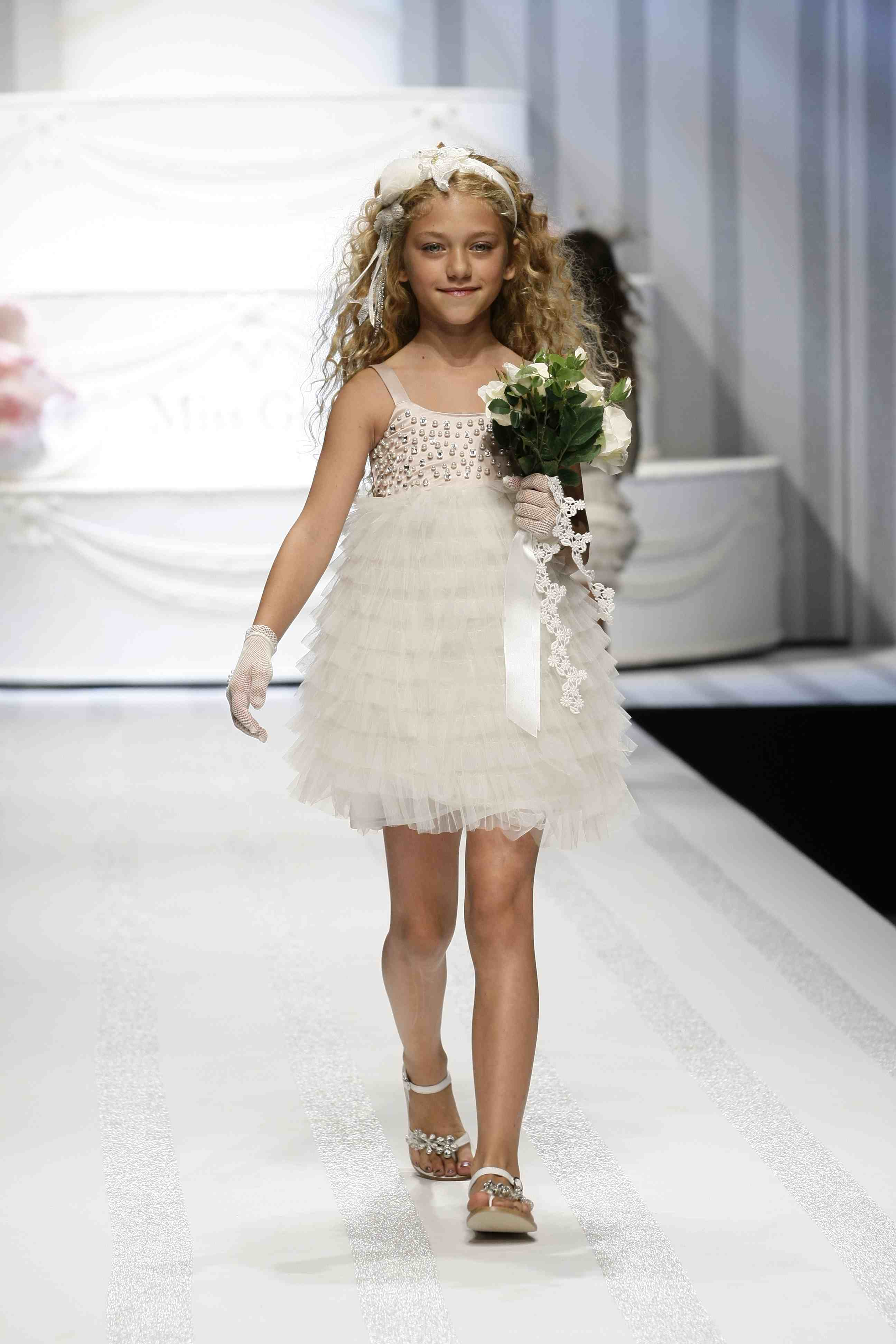 More ruffled net layers at Miss Grant for designer kidswear summer 2012