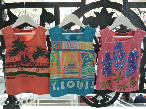Vintage adult T-shirts recut for kids in washed out strong colours at Dandy Dodo for summer 2012 at Bubble London