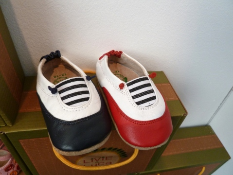 Livie and Luca baby shoes available in larger sizes too, at Bubble London for summer 2012