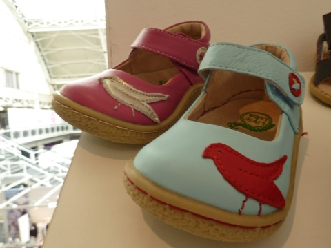 New exhibitor from the USA Livia and Luca kids shoes for summer 2012 at Bubble London