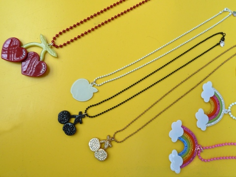 70's retro jewellery from Anna Lou of London at Bubble London for spring 2012