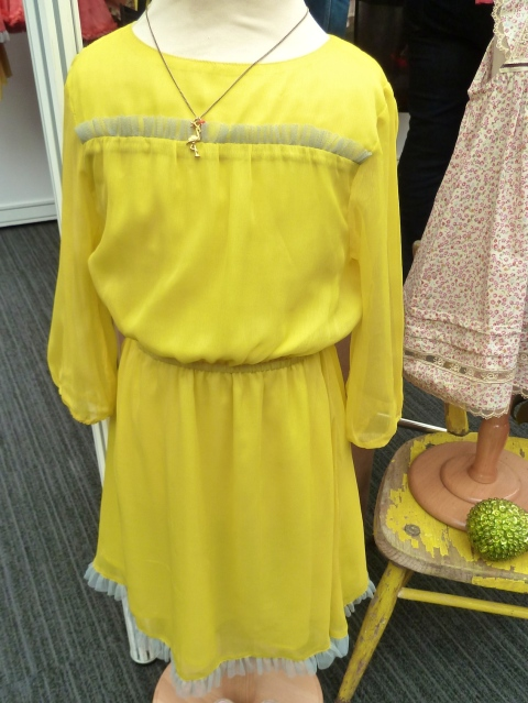 Acid yellow cool dress by I Love Gorgeous from Bubble London for summer 2012