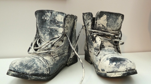 Just for fun and inspiration, paint splattered boots by Jessie and James at Bubble London