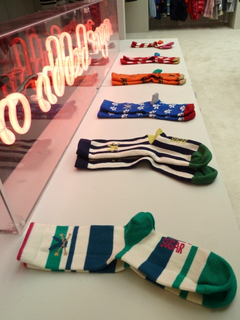 Cool boys socks, a new line from No Added Sugar at Bubble London for spring 2012