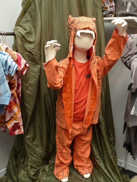 Maharishi's  fun orange tiger suit for boys at Bubble London summer 2012 preview
