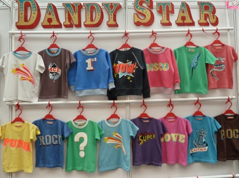 Strong bold colours at Dandy Star for kids summer 2012 from Bubble London