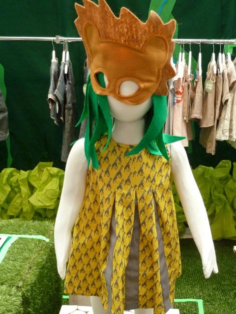 Little Esop's own Giraffe print jungle dress for summer 2012 at Bubble London