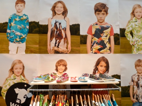Bright photomontage prints from Wild for summer 2012 at Bubble London