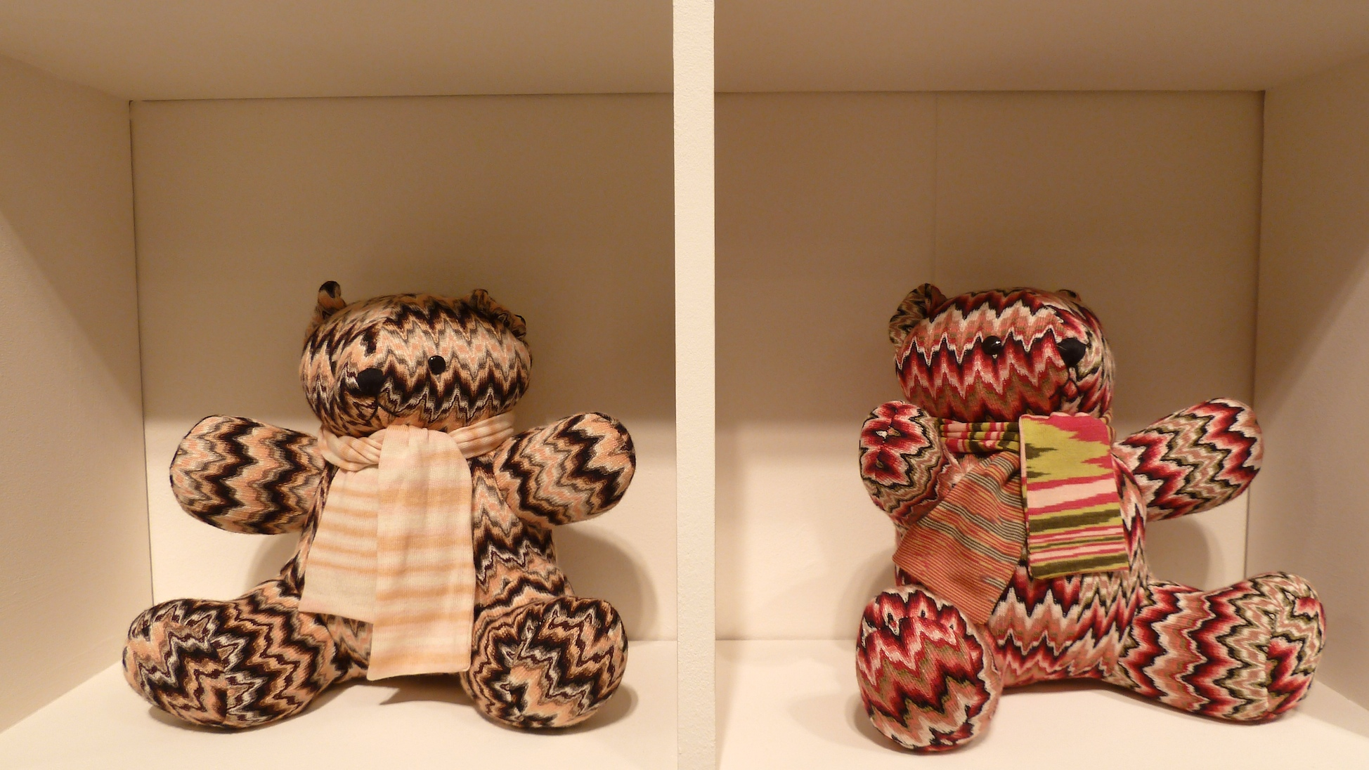 Missoni returned to Pitti with a great range of their signature knits, more of these later  but how desirable are these bears!