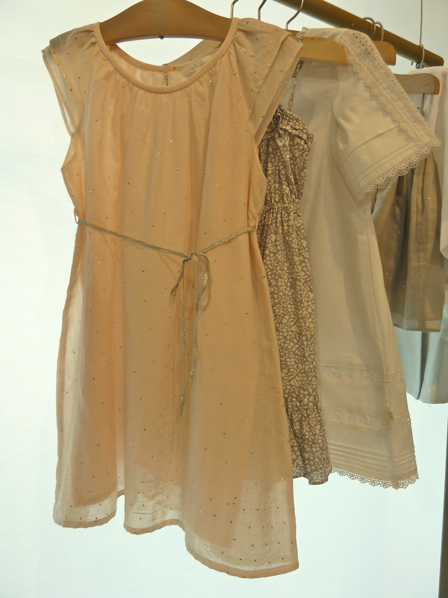 Delicate flesh toned dresses from Marie Chantal for summer 2012 kids fashion