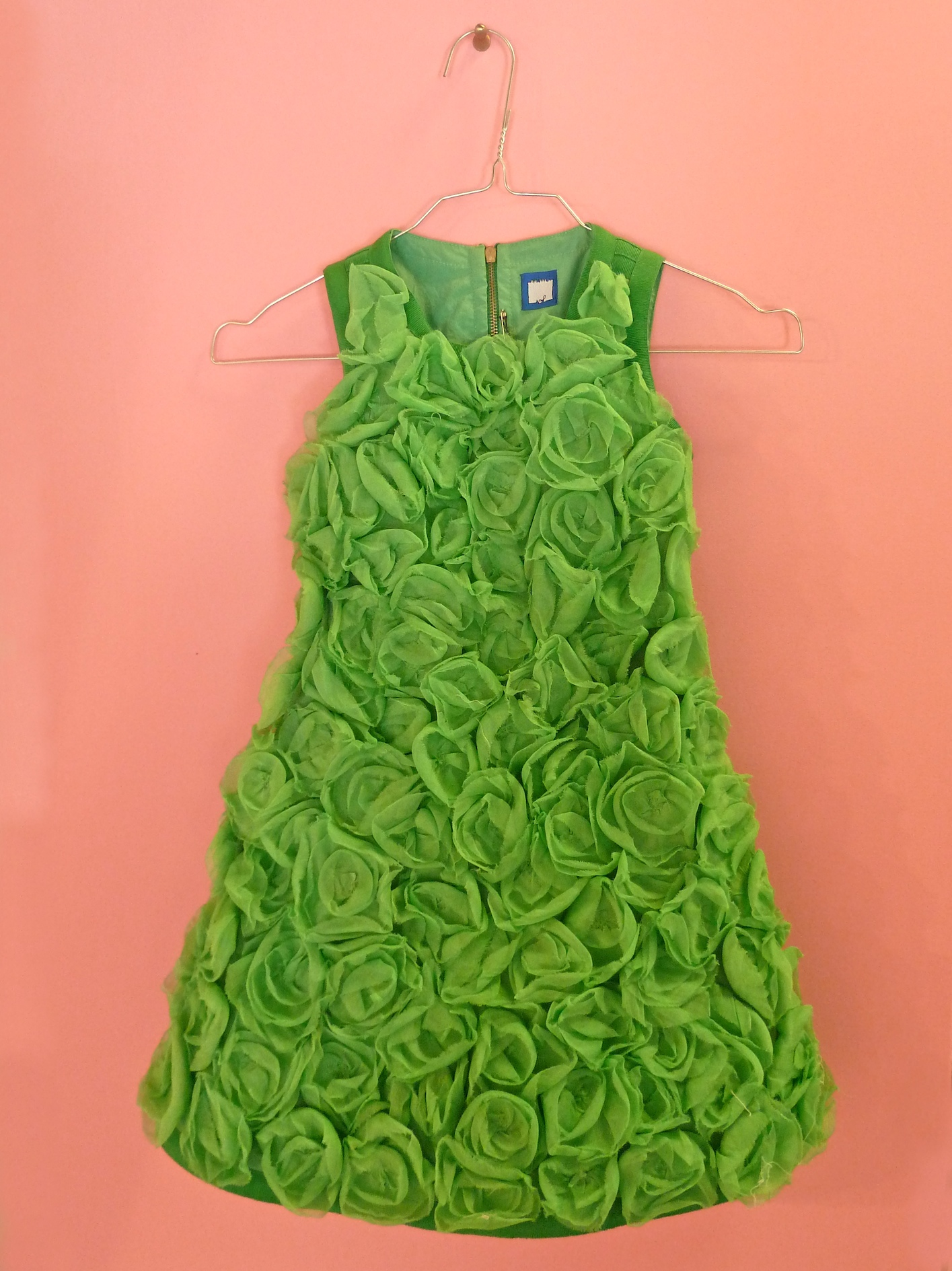 Amazing flower dress from Mi Mi Sol, the new label from Imelde Bronzieri, one half of the original I Pinco Pallino at Pitti Bimbo 73