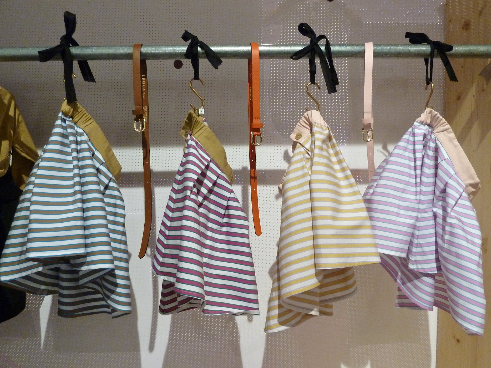 French class with silk striped skirts from Leoca Paris for girlswear summer 2012 at Pitti Bimbo 73